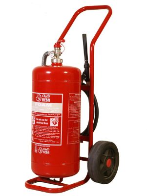 Fire Extinguishers Heba Foam Trolley Type 50 L