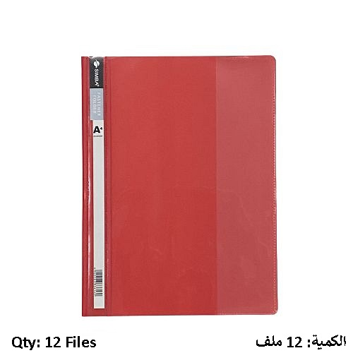 Report Cover SIMBA with Clear Front Report Cover Red 12 PC/Pack