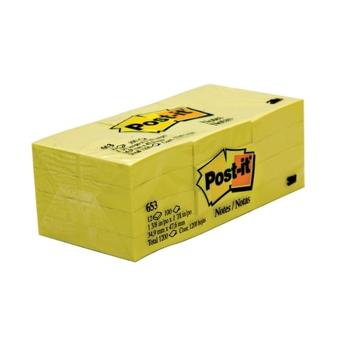 Sticky Note 3M Post-it 653 size: (35x48mm) 12 PC/Pack
