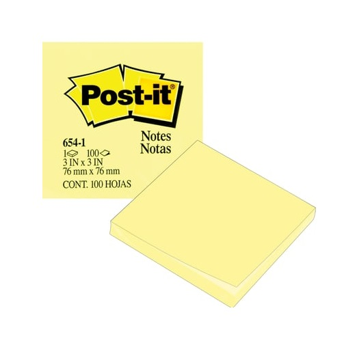 Sticky Note 3M Post-it 654 size: (75x75mm) 12 PC/Pack