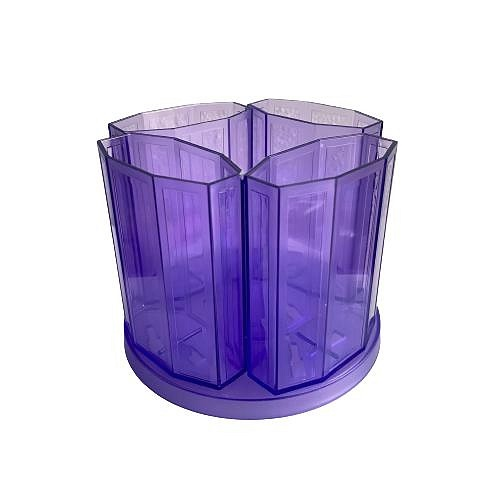 Pens Cup with baes Acrylic METRO Transparent Purple