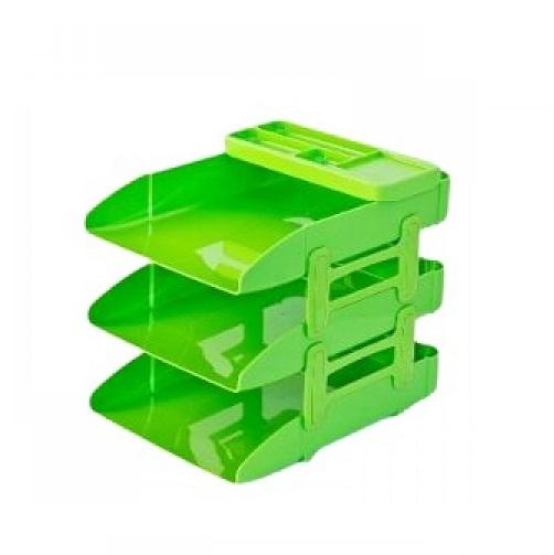 ادوات تنظيم المكتب،مترو،حاوية مستندات ،3 رفوف،اخضر