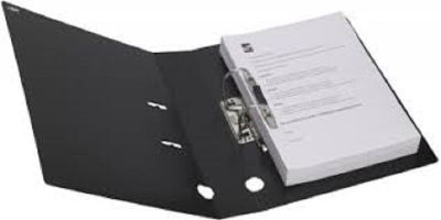 Box File, MINTRA, Lever Arch File, 2-Ring Binder, 70mm, A4 ,Plastic ,Black