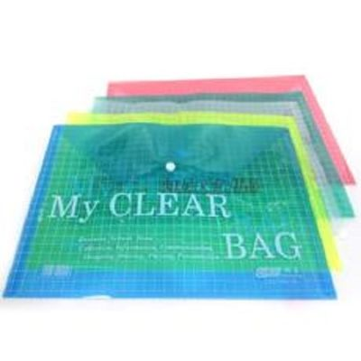Documents Covers, My Clear Bag, Documents Bags, A4, Green, 12 PC/Pack