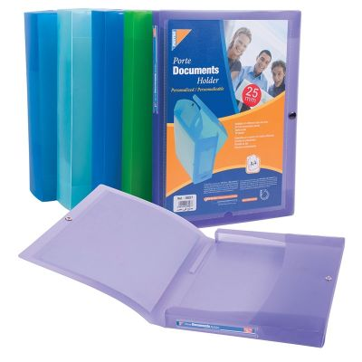Documents Covers, MINTRA, Documents Holder, 40 mm, PVC, A4, Assorted Color