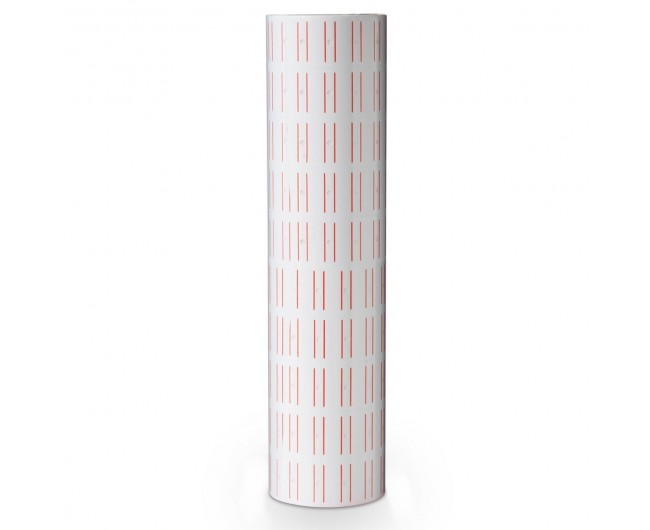Pricing, JOLLY, Price label Roll, 2 lines labeller, Size 26x16mm, White , 10 Rolls/pack