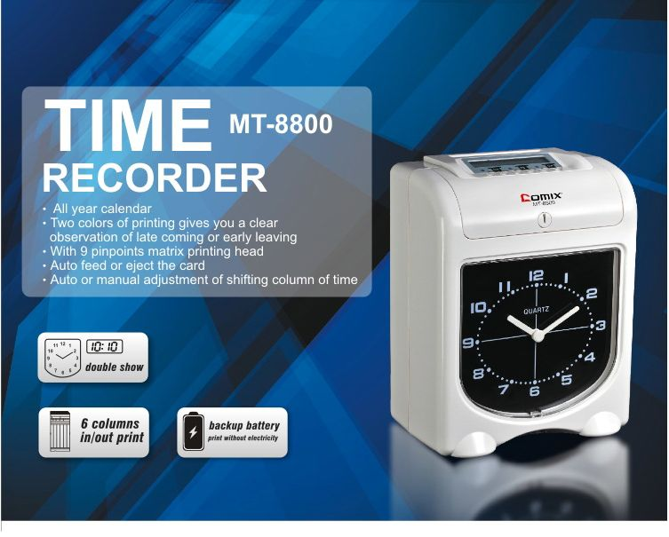 Time Recorder, COMIX F-3506, Time Recorder Ink