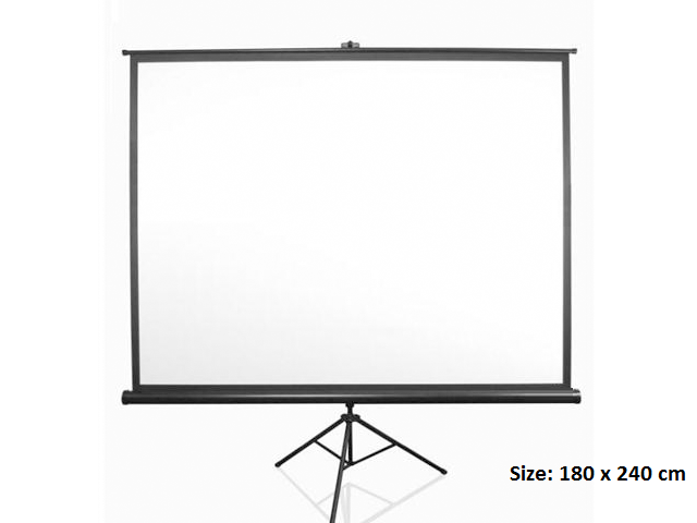 Screen, SIMBA, Projector Screen, Size: 180 x 240 cm, with Stand بروجكتر