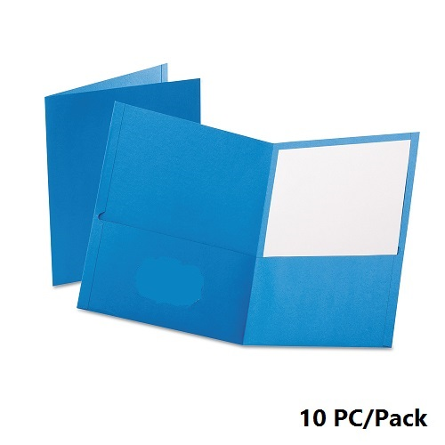 Documents Covers, Bassile, File, 2 pocket, A4, Light Blue , 10 PC/Pack