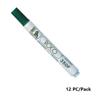 Permanent Marker, ROCO, 350F Chisel Tip, 1-4mm, Green, 12 PC/Pack