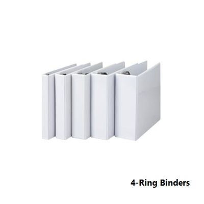 Ring Binders, SIMBA, 4-Ring Binders, 1.5 in (40 mm), A4, White