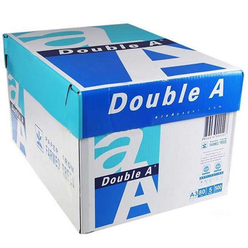 Multi-Use Paper, Double A Paper A3 (297 x 420 mm), White, BOX (5 reams x 500 sheets)