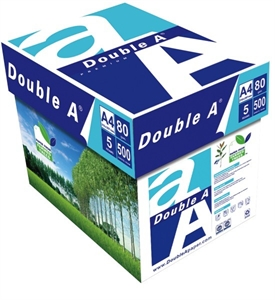 Multi-Use Paper, Double A Paper A4 (210 x 297 mm), White, BOX (5 reams x 500 sheets)