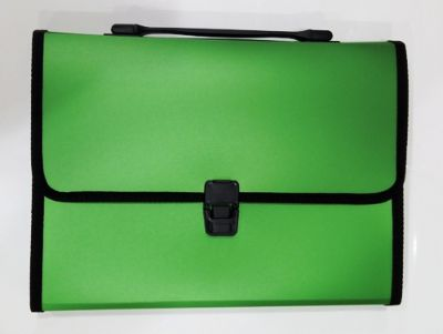 Documents Covers, SIMBA, Expanding File, 12 Pockets with Button, Green