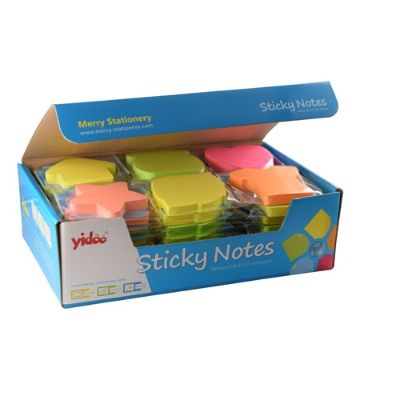 Memo Paper, YADOO, Sticky Note, 100 Sheets / Pads, 6 Different Size & Color, 48 PC/Pack
