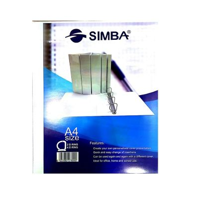 Ring Binders, SIMBA, 4-Ring Binders, 2 in (50 mm), A4, White