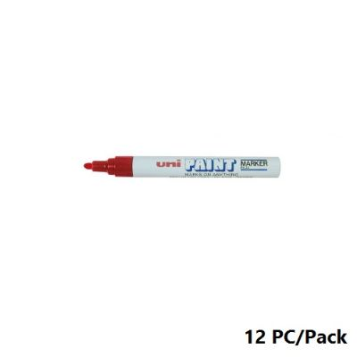 Paint Marker, Uni-Ball, PX-20, Round Tip,2.2 - 2.8mm, Red, 12 PC/Pack