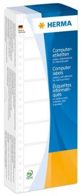 Labels, HERMA 8160, Computer labels, 88.9 x 23 mm, white