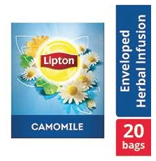 Lipton Herbal Infusion Camomile (16x20 Enveloped teabags) CASE