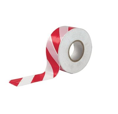 """Safety Zone, Warning Tape, Size: 3"""" X 200 Meters ,Red & White"""