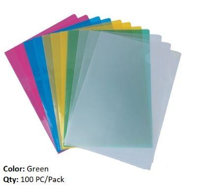Documents Covers, MAS, Sheet Protector, 120 Micron (Light), A4, Green Transparent, 100 PC/Pack