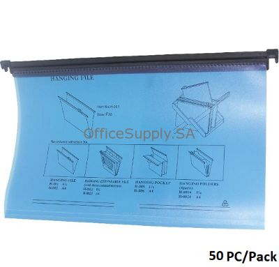 Suspension Files, F4, 1/5 Tab Cut (Removable), Plastic, Blue ,50 PC/Pack