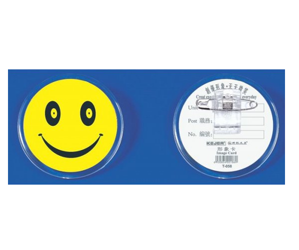 Badges & Holders, KEJEA, Image Card with Clip T-058 , Size: 55 mm, Plastic