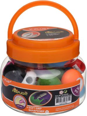 Sharpener, Y-PLUS, Plastic Sharpener with One Holes, Assorted Colors, 24 PC/Pack