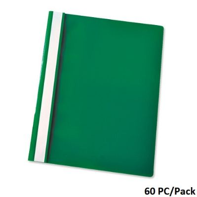 Documents Covers, Report Cover, PVC, A4, Green, 60 PC/Pack