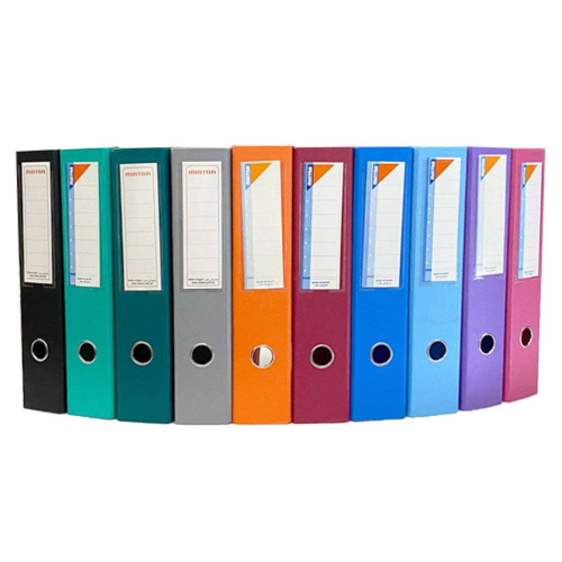 Box File, MINTRA, Lever Arch File, 2-Ring Binder, Cardboard, 70mm, A4, Light Blue