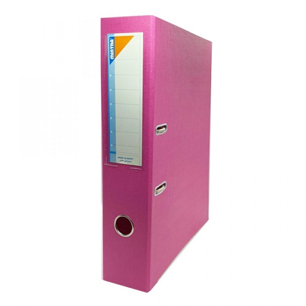 Box File, MINTRA, Lever Arch File, 2-Ring Binder,Cardboard, 70mm, A4, Pink