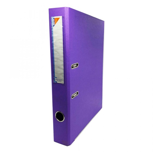 Box File, MINTRA, Lever Arch File, 2-Ring Binder, Plastic, 50mm, A4, Purple