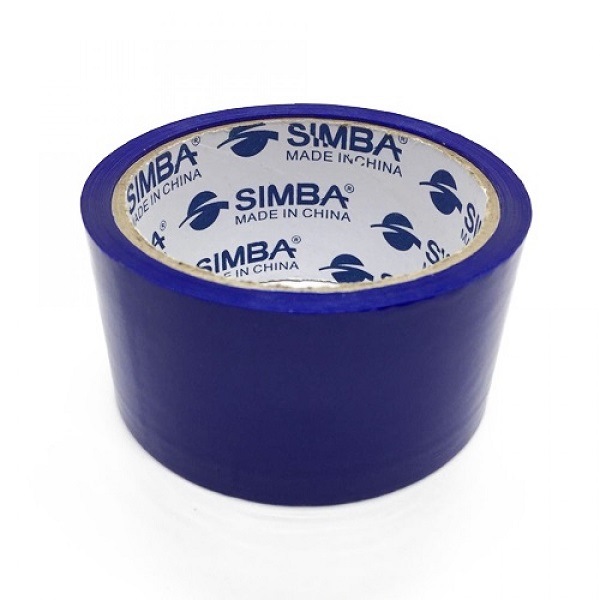 Tape, SIMBA, Plastic Packaging Tape, 2 inch (48 mm) x 40 yd ( 36.5 m), Blue, 12 PC/Pack