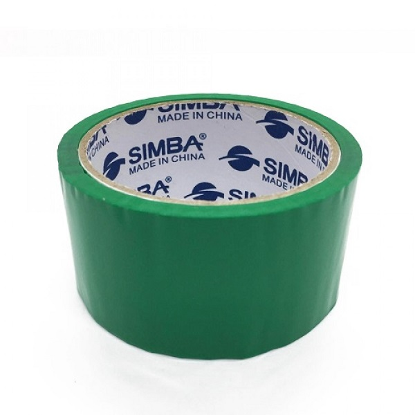 Tape, SIMBA, Plastic Packaging Tape, 2 inch (48 mm) x 40 yd ( 36.5 m), Green, 12 PC/Pack