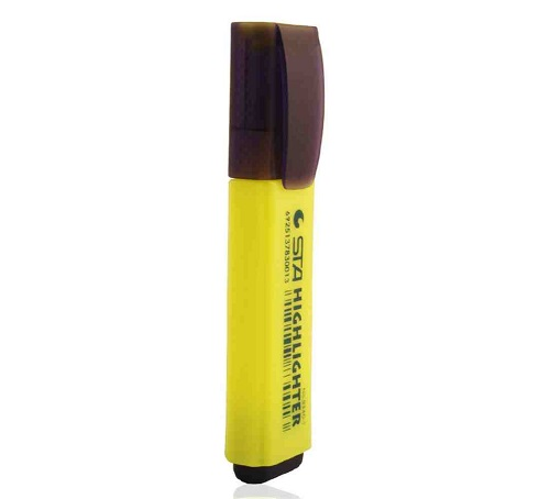 Highlighter Marker, STA, 1 - 5 mm, Chisel Tip, Yellow Box