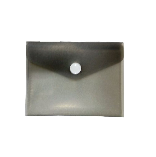 Badges & Holders,SIMBA, Business Card Holder, 12 Pockets with Button, Gray