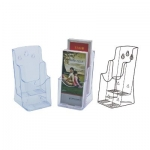 Desk Organizer, KEJEA, Countertop Display Rack K-151, 2 Pocket, Plastic, Clear