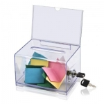 Desk Organizer, KEJEA,  Name Card Box K-509, Plastic, Clear