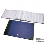 Notebook, Bassile Freres, American Journal Book, 16 Columns, 65.00 cm X 35.00 cm, 100 Sheets