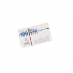 Notepad, Bassile Freres, Record Cards Lines, 240g, White, Small (7.6 x 12.7 cm), 100 PCs/Pack
