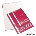 Notepad, Bassile Freres, Notepad TOP (spiral), (14.5x21.5cm), 60 Sheets, 12 Pcs/Pack, White