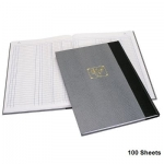 Notebook, Bassile Freres, Ledger Book , 3 Columns, B4, 100 Sheets