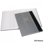 Notebook, Bassile Freres, Ledger Book , 3 Columns, B4, 200 Sheets