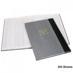 Notebook, Bassile Freres, Ledger Book , 3 Columns, B4, 300 Sheets