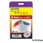 Badges & Holders, KEJEA, IDT-087 V, Size: 55*85mm, Plastic,10 PC/Pack