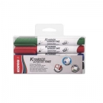 Whiteboard Marker,Kores , XW2, Chisel Tip, 4 Colors/Box