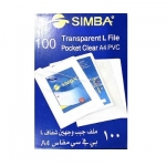 Documents Covers, SIMBA, Sheet Protector,  A4, Transparent L File, 100 PC/Pack