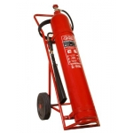 Fire Extinguishers, HEBA, Carbon Dioxide (CO2), Trolley Type, 25 KG