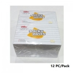 Memo Paper, YIDOO, Lined Sticky Note, (75x125mm), 100 Sheets/pads, White, 12 PC/Pack