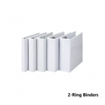 Ring Binders, SIMBA, 2-Ring Binders, 0.5 in (12.5 mm), A4, White
